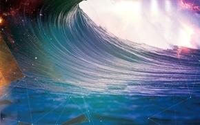 Картинка океан, волна, Абстракция