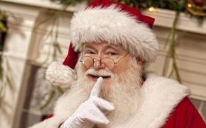 Картинка праздник, Santa, Happy New Year, Merry Christmas, рождество, holidays, claus, Новый год, Дед Мороз