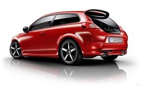 Картинка красный, Volvo, red, хэтчбек, тонировка, R-Design, C30