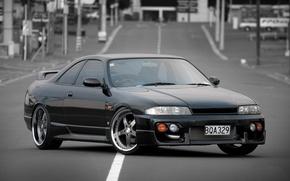 Картинка Nissan, black, tuning, Skyline, R33