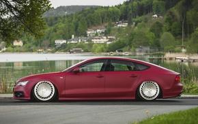 Картинка tuning, stance, Audi A7, messer