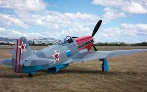 Картинка истребитель, советский, одномоторный, Як-3, Yak-3