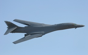 Картинка Boeing, sky, aircraft, bomber, flying, plane, B-1 Lancer, Rockwell B-1 Lancer, US Air Force, US …