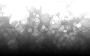 Картинка свет, круги, абстракция, узоры, точки, ч/б, light, circles, patterns, 1920x1200, боке, bokeh, abstraction, dots, b&w