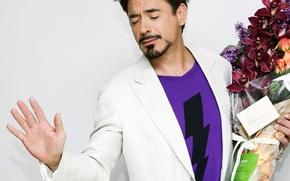 Обои цветы, flowers, записка, Robert Downey Jr, orchid, актер, note, actor, орхидеи, Роберт Дауни-младший