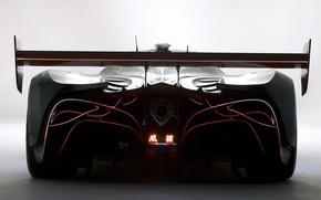 Картинка вид сзади, машина настоящего самурая, mazda furai concept