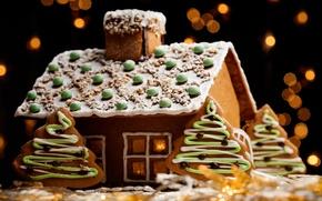 Обои дом, праздник, рождество, Новый год, декорация, бисквитные