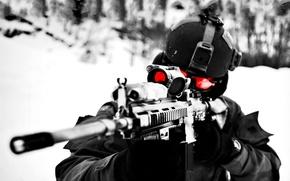 Картинка зима, оптика, Снайпер