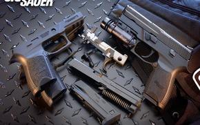 Картинка стволы, Пистолет, пули, обоима