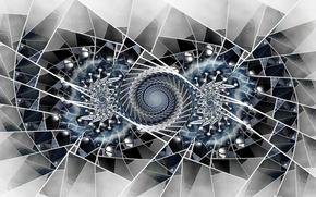 Картинка линии, обои, узор, спираль, симметрия