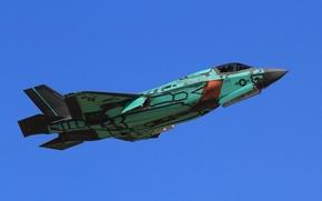 Обои истребитель, бомбардировщик, Lightning II, F-35A
