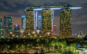 Картинка город, Singapore, Garden and the Sand