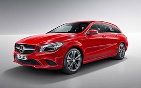 Картинка красный, Mercedes-Benz, фон, мерседес, CLA-Class, X117, универсал