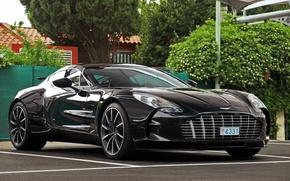 Картинка car, black, aston martin, super, one-77