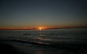 Картинка море, солнце, закат, даль, Красиво, Грузия, Батуми