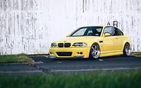 Картинка BMW, Yellow, E46