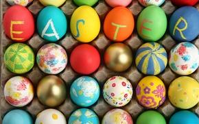 Картинка праздник, яйца, Пасха, Easter, крашеные