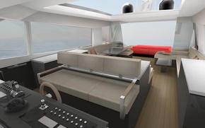 Картинка дизайн, стиль, интерьер, яхта, люкс