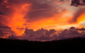 Обои maui, sunset, небо, закат, пейзаж