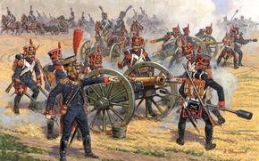Картинка арт, Наполеоновских войн., эпохи, Французская пешая артиллерия 1810-1814гг. Участвовала, во всех сражениях