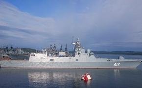 """Картинка корабль, ВМФ, фрегат, СКР, сторожевой, Североморск, Северный Флот, """"Адмирал Горшков"""""""