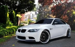 Картинка Белая, спорткар, BMW M3, бмв м3