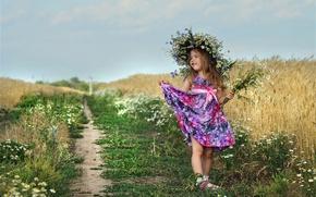 Картинка лето, настроение, девочка