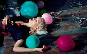 Картинка шарики, день рождения, роза, 2015, Numero, Jessica Stam, Джессика Стэм