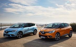 Картинка Renault, Автомобили, Scenic, 2016, Металлик