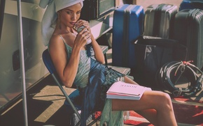 Обои модель, Rosie Huntington-Whiteley, блондинка
