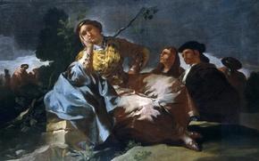 Картинка картина, Свидание, жанровая, Франсиско Гойя