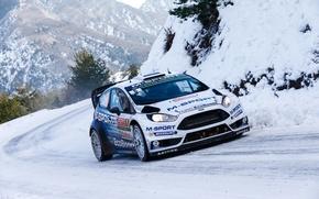 Картинка WRC, Rally, Ралли, Ford Fiesta, Monte Carlo, Форд Фиеста, Ott Tanak