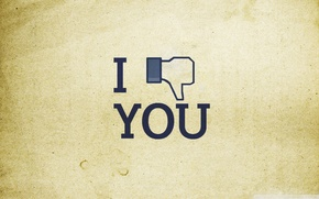 Картинка надпись, minimal, facebook, icon, i dislike you