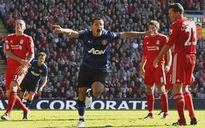 Обои манчестер юнайтед, футбольные обои, дядя вася, сhicharito, manchester united wallpapers 2012
