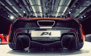 Картинка машина, McLaren, гараж, суперкар, МакЛарен