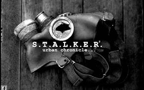 Картинка доски, противогаз, Сталкер, STALKER
