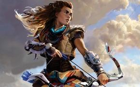 Картинка Sony, Art, PS4, Horizon: Zero Dawn, Aloy