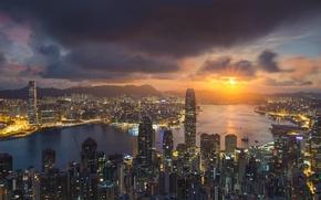 Картинка China, Sunset, Hong Kong