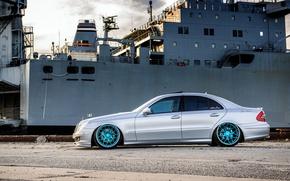 Картинка профиль, silver, Mercedes, wheels, мерседес, металлик, e350