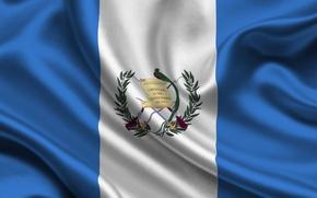 Картинка Флаг, Герб, Текстура, Гватемала, Flag, Guatemala, Республика Гватемала