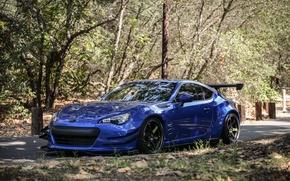 Картинка Subaru, спорткар, синяя, blue, субару, brz, брз