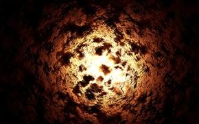 Обои космос, взрыв, дыра
