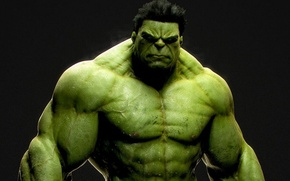 Обои злой, зелёный, качок, халк, hulk, incredible