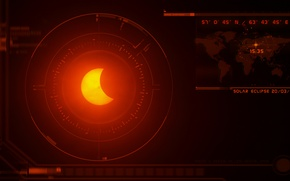 Картинка солнце, луна, затмение