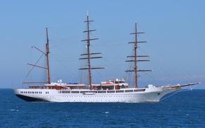"""Картинка море, корабль, парусный, """"Sea Cloud 2"""""""