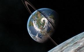 Обои Планета, Космос, Земля