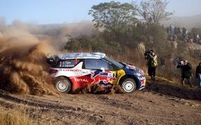 Картинка Пыль, Профиль, Citroen, DS3, WRC, Rally, Ogier