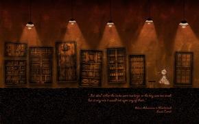 Картинка Двери, Vladstudio, Алиса в Стране Чудес, Льюис Кэролл
