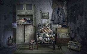 Картинка комната, радио, кресло