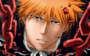 Обои Anime, bleach, kurosaki ichigo, art